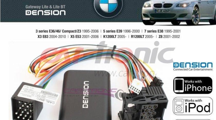 Adaptor USB iPod iPhone AUX-IN dedicat BMW E36 E46 E39 E38, X5 E53, Z3, Z8 Model Dension Gateway Lite GWL3BM1