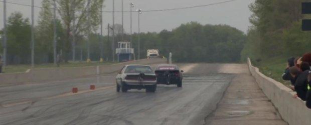 Adevaratele curse pe bani: un Mustang castiga $10.000 cu... dificultate