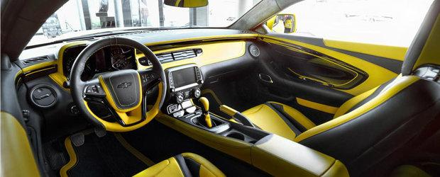 Adio plastice, bun venit piele: Camaro ZL1 cu interior de la Carlex Design