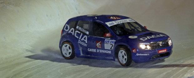 Alain Prost si Dacia Duster, castigatori pe Alpe d'Huez