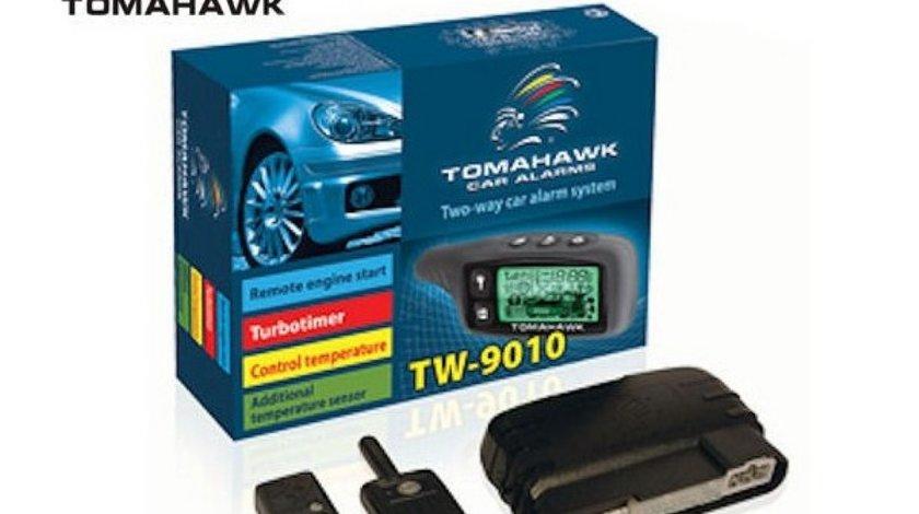 ALARMA AUTO CU PAGER TOMAHAWK TW 9010 SISTEM DE SECURITATE CU PORNIRE MOTOR MONTAJ AUTORIZAT IN TOATA TARA LA CEL MAI BUN PRET