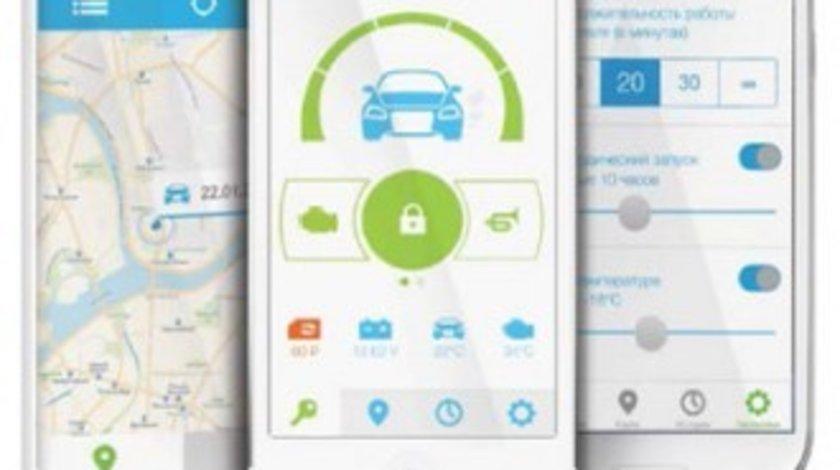 Alarma auto cu pornire motor din aplicatie telefon StarLine
