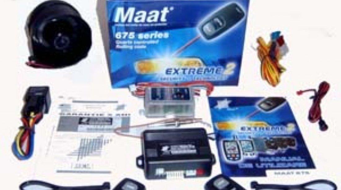 ALARMA AUTO MAAT 675 EXTREME 2 SISTEM DE SECURITATE CU TELECOMANDA MONTAJ AUTORIZAT