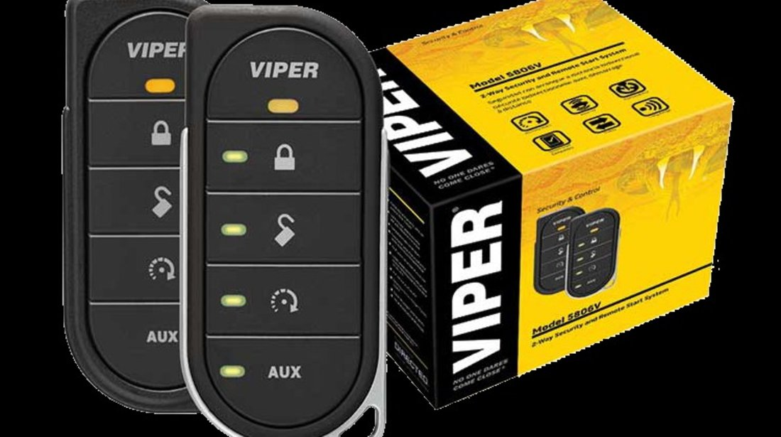 Alarma VIPER 5806V - Sistem de securitate cu pornirea motorului din telecomanda bidirectionala