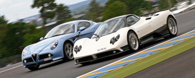 Alege-ti favoritul: Pagani Zonda ori Alfa Romeo 8C Competizione?