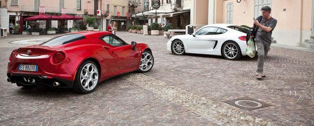 Alfa Romeo 4C vs Porsche Cayman: Ce alegi si de ce?