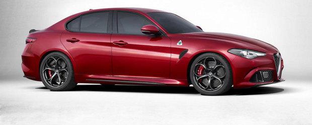 Alfa Romeo Giulia debuteaza oficial, ofera tractiune spate si pana la 510 CP