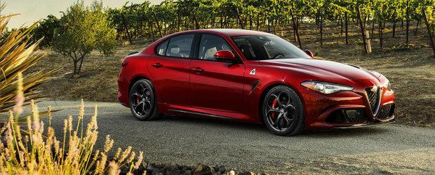 Alfa Romeo Giulia debuteaza pe taram american cu un 2.0 turbo de 276 CP