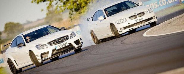 Alpina B3 GT3 si Mercedes C63 AMG Black Series, duel strans pe circuit