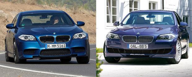 Alpina B5 Bi-Turbo versus BMW M5 - Tuning sau Stock?