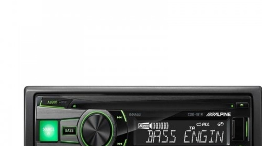 ALPINE CDE-181R RADIO-CD MP3 Player Auto C USB Montaj In Toata Tara