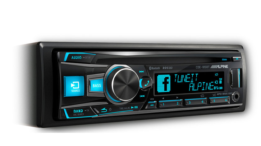 ALPINE CDE-185BT RADIO-CD MP3 Player Auto C USB Montaj In Toata Tara