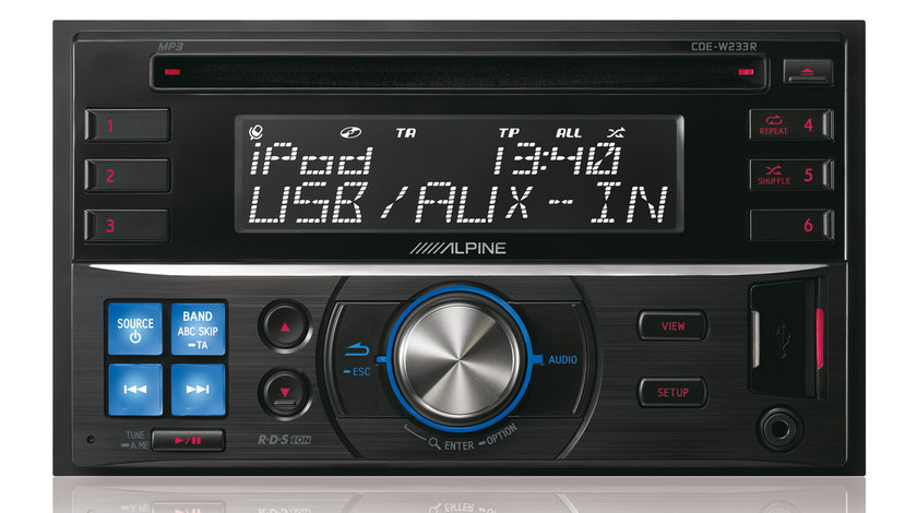 ALPINE CDE-W235BT RADIO-CD MP3 Player Auto C USB Montaj In Toata Tara