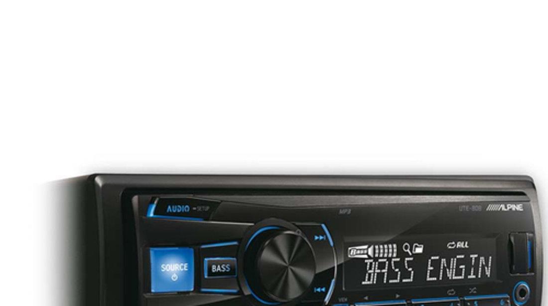 ALPINE UTE-80B RADIO-CD MP3 Player Auto C USB Montaj In Toata Tara