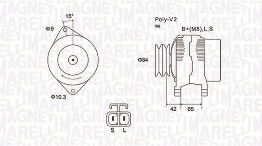 Alternator (12V, 70A) FORD RANGER; MAZDA B-SERIE 2.5D/3.0 d intre 1998-2012