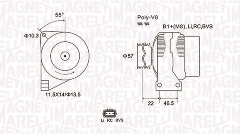 Alternator (14V, 150A) LAND ROVER DISCOVERY III, DISCOVERY IV, RANGE ROVER SPORT 2.7D dupa 2004