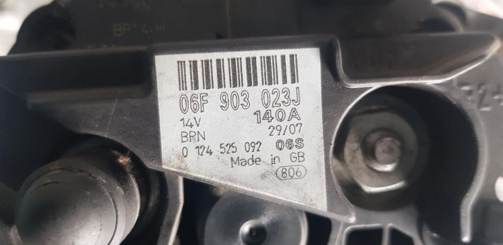 Alternator AUDI A4 B7 2.0 TDI 121/126/136/140/163/170 CP cod 06F903023J