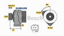 Alternator MERCEDES-BENZ M-CLASS (W164) BOSCH 0 12...
