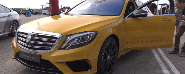 Altul ca el nu mai exista! Cum arata singurul S-Class S65 AMG finisat in nuanta Solarbeam Yellow