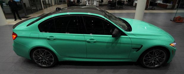 Altul ca el nu mai gasesti. Ce spui de acest BMW M3 Mint Green?