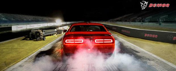 Am aflat puterea noului Dodge Challenger Demon. Cum iti suna 1.023 de cai putere?