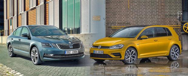 Ambele au acelasi pret, insa ofera retete complet diferite. Skoda Octavia sau Volkswagen Golf?