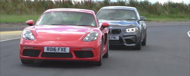 Ambele concureaza in aceeasi gama de pret, insa unu-i mai performant. Test comparativ intre BMW M2 si Porsche Cayman S