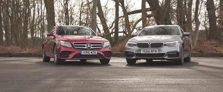 Ambele ofera un motor diesel, dar care e mai bun? Test comparativ intre Mercedes E220d si BMW 520d