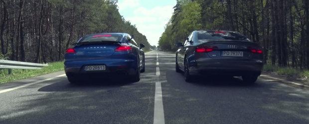 Ambele sunt super-luxoase, insa sprintul e cel care conteaza acum. Scurta liniuta intre Audi S8 Plus si Porsche Panamera Turbo