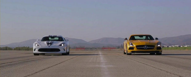 America vs Germania: Noul SRT Viper, fata in fata cu Mercedes SLS AMG Black Series
