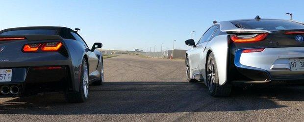 American Muscle sau curentul de la priza? Corvette vs. BMW i8!