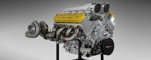 Americanii rup tacerea. Acesta este MOTORUL primei masini de strada care poate atinge aproape 500 de km/h
