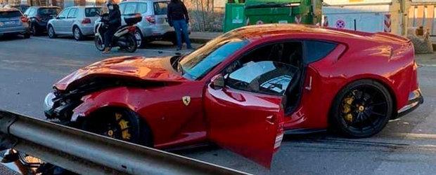 Angajatul unei spalatorii auto, ghinionistul anului. A facut dauna totala un Ferrari de 300.000 euro