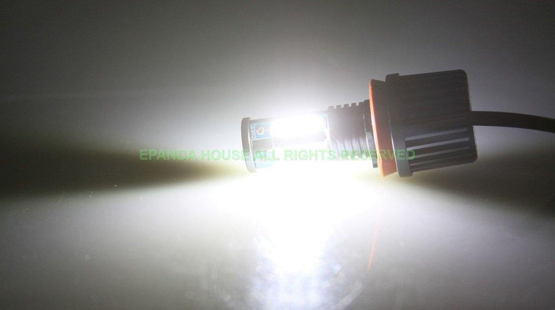 Angel Eyes Bmw E90 LCI dupa 2009 Led Marker H8 120w