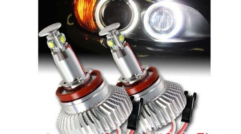 Angel Eyes H8 64W Pe fiecare Bec BMW X5 E70 X6 E60 E92 E90 Cel mai mic pret