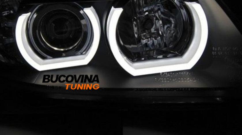 ANGEL EYES LED 3D CU SEMNALIZARE BMW SERIA 3 (08-14)