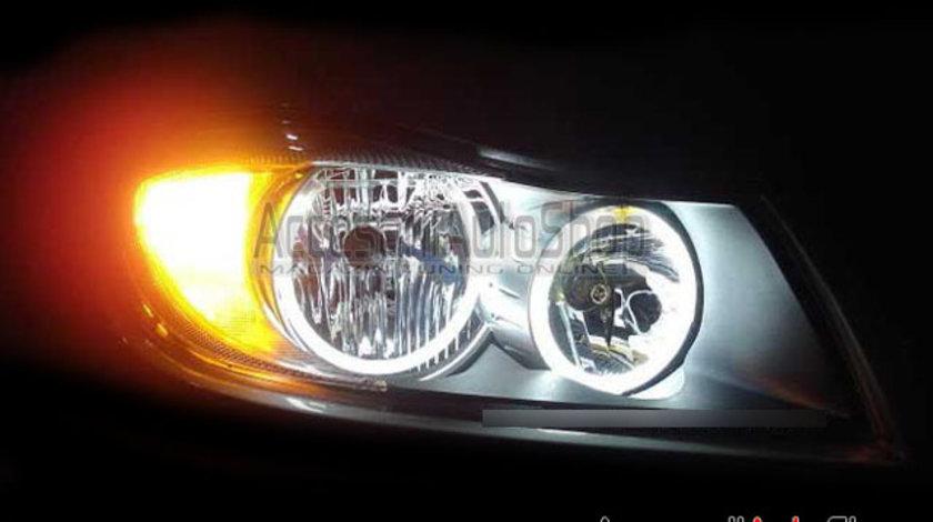 Angel Eyes LED BMW E90 E91 Fara Lupa