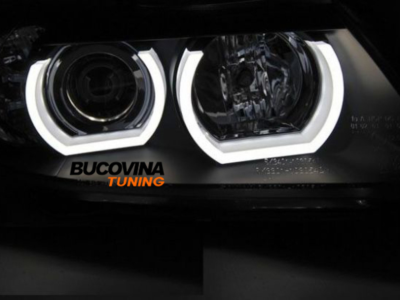 ANGEL EYES LED DTM DESIGN CU SEMNALIZARE BMW SERIA 3 (08-14)