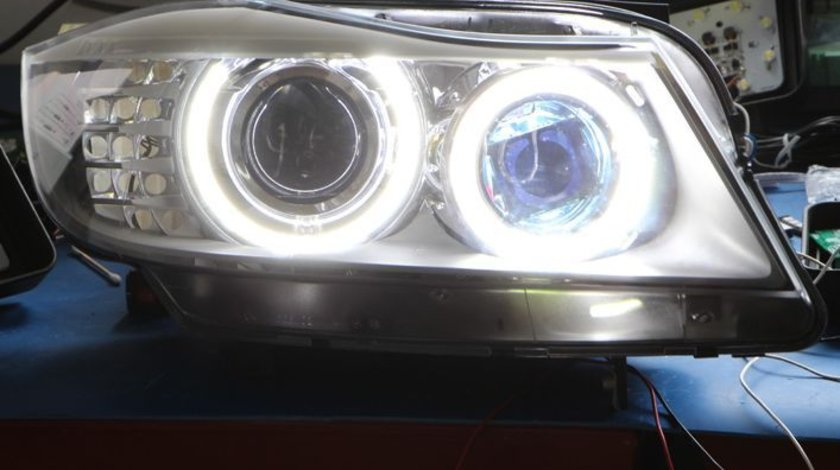 ANGEL EYES LED MARKER BMW SERIA 3 SEDAN E90 FACELIFT NEW 6S H8 80W 3200 LUMENI