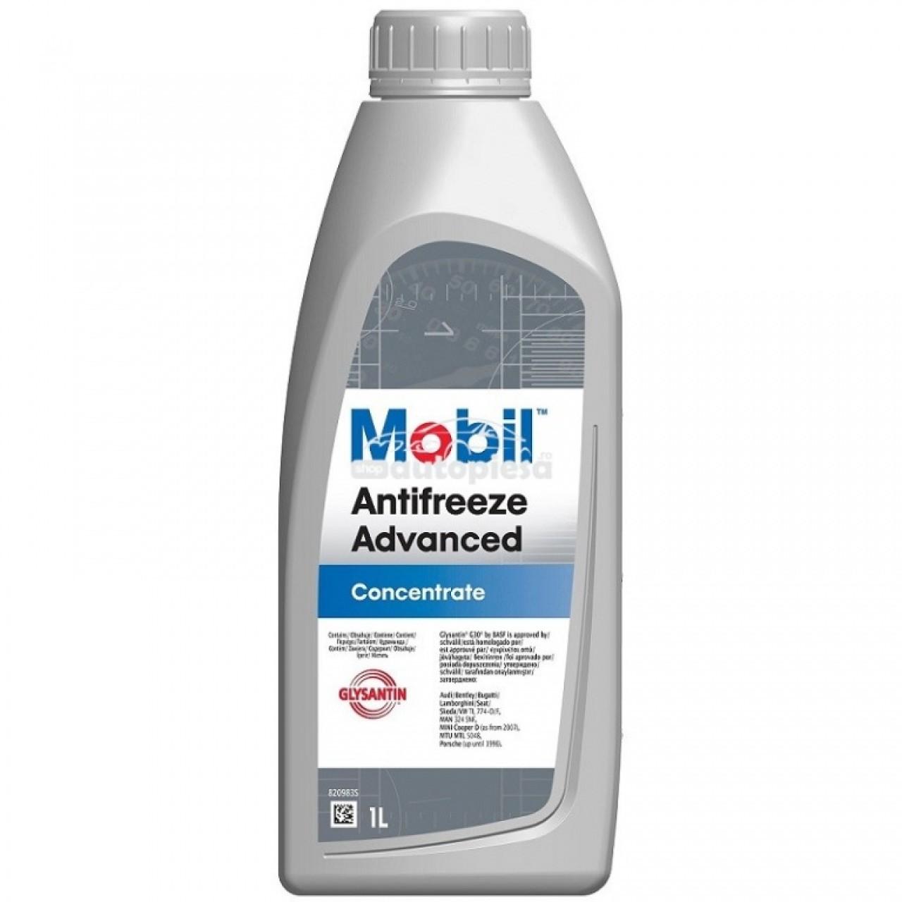 Antigel concentrat MOBIL Antifreeze Advanced G12 / G12+ Rosu / Roz 1 L MOB ANTI ADV 1L piesa NOUA