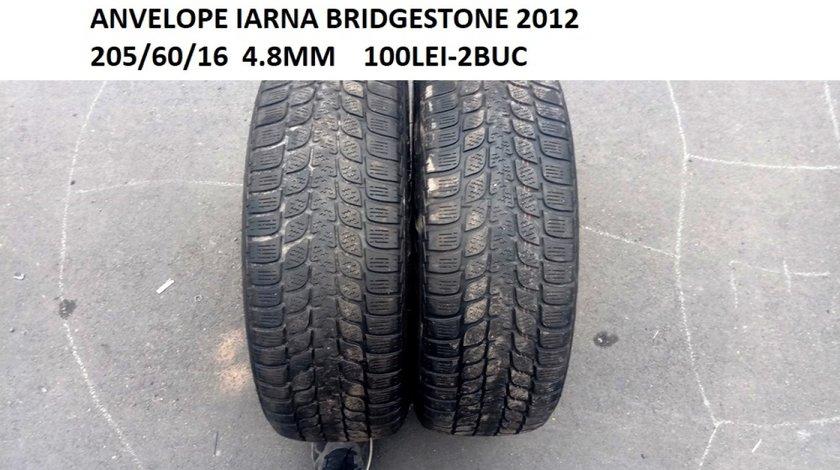 ANVELOPE IARNA BRIDGESTONE 2012 205/60/16  4.8MM    100LEI-2BUC fara defecte