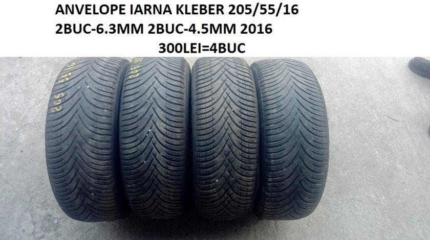 anvelope IARNA KLEBER 205/55/16 6.5MM - 4.5MM  fara defecte 300LEI=4BUC
