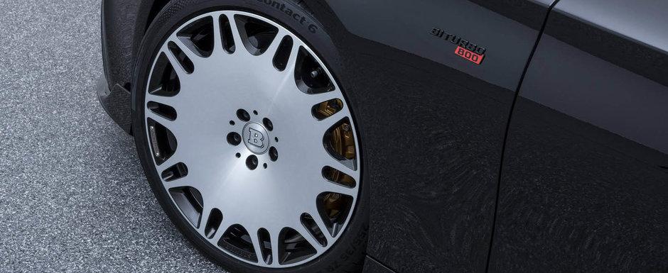 Apesi acceleratia si 3 secunde mai tarziu esti la 100. Noua limuzina de la Brabus are 800 de cai si 1.000 Nm cuplu
