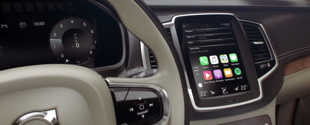 Apple CarPlay isi face loc in cabina noului Volvo XC90
