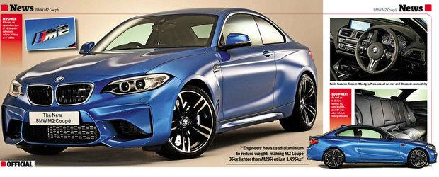 Aproape oficial: Acesta e noul BMW M2 Coupe!