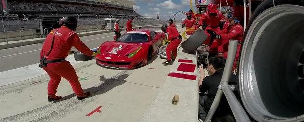 Ar fi de ras daca n-ar fi de plans: Ferrari 458 GT2 trantit de asfalt la boxe