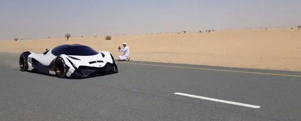 Arabii au scos pe strazi masina de 5.000 CP. Uite-o AICI in actiune!