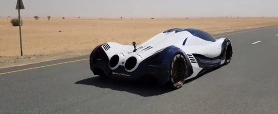 Arabii au scos pe strazi masina de 5000 CP. Uite cat de repede accelereaza Devel Sixteen!