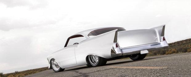 Arata ca un Chevrolet din '57 dar de fapt este un proiect unicat. Masina cu 1.800 CP sub capota este de vanzare