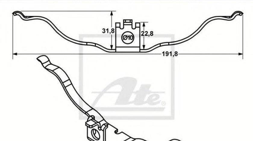 Arc, etrier frana AUDI A8 (4H) (2009 - 2016) ATE 11.8116-0018.2 produs NOU